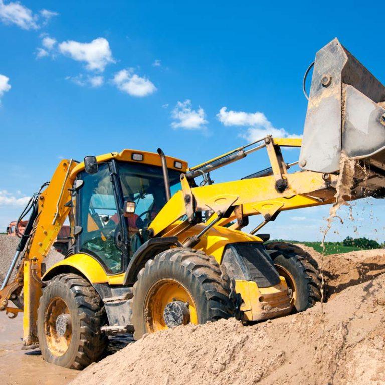 Digger lifting load