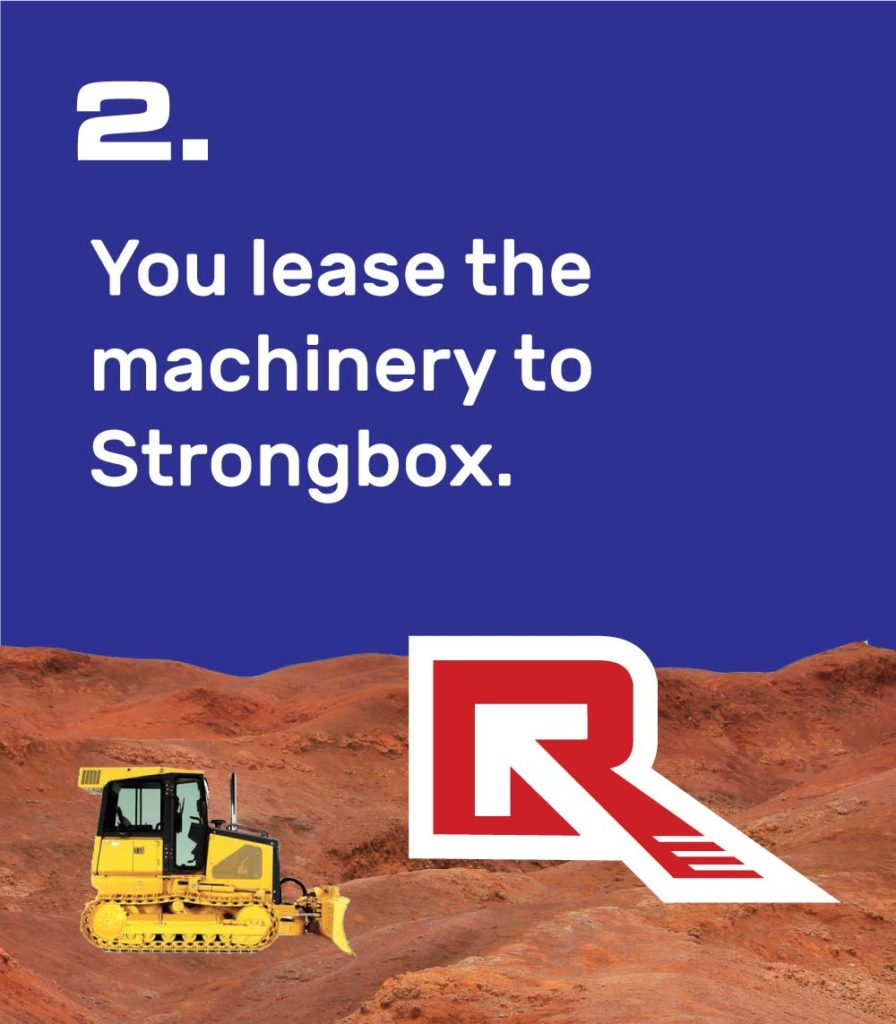 2. You lease the machinery to Strongbox