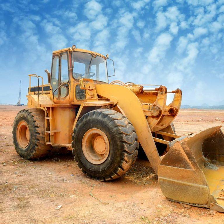 Wheel loader at rest